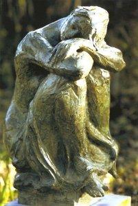 La Mélancolie 1999 - Fonte à la cire perdue  Fonderie Delval Tombe de Ingrid et Gabriel B. au cimetière à Washington 73*50*42