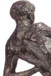Fausse Pudeur 2000 - Fonte à la cire perdue  Fonderie Delval 18*24*18