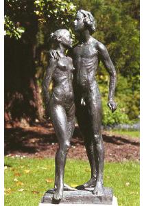 La Première Promesse 1999 - <p>Fonte à la cire perdue  Fonderie Delval Espace Cacheux de l'Arboretum des Musées d'Angers 187*64*64</p>