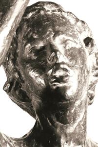Jean-Christophe ou le Jeune chef d'orchestre (fragment) 1965 - Fonte à la cire perdue Fonderie Valsuani Collège Romain Roland Erstein (67) et Espace Cacheux de l'Arboretum des Musées d'Angers 92*29*17 H 200