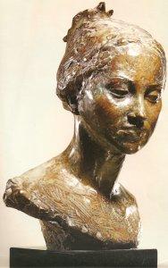 Buste de la petite Strasbourgeoise 1973 - <p>CP  GS et René G.M 50*35*28 28</p>