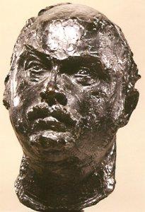 Buste du fondeur Claude Valsuani 1975 - Fonte à la cire perdue  Fonderie Valsuani CP Fonderie Valsuani 35*23*30