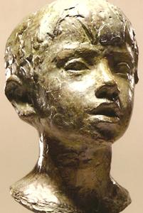 Buste de Nicolas W. 1965 - Fonte à la cire perdue  Fonderie Valsuani Galerie Heitz – Palais de Rohan 26*15*18