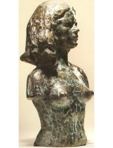 Buste de la jeune fille sauvage 1970 - Fonte à la cire perdue  Fonderie Valsuani 36*21*17