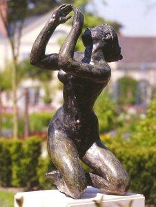La Musique 1999 - Fonte à la cire perdue Espace Cacheux de l'Arboretum des Musées d'Angers Fonderie Delval 104*49*50