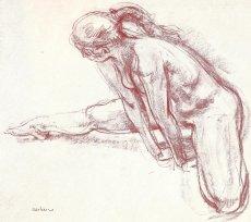 Etude préparatoire à la Sculpture : « La Jeune Vigueur » - Sanguine