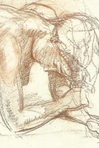 Etude pour une figure étendue - Sanguine -