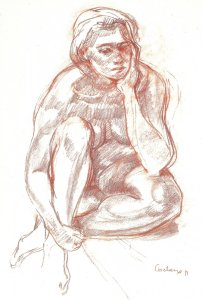 Magalie rêveuse 1991 - Sanguine