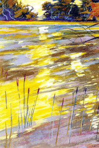 Le reflet jaune 1999 - Pastel sec C.P 64*50