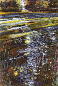 La rivière bleue 2004 - Pastel sec C.P 63*50